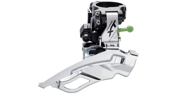 Shimano Deore XT FD-T781 Voorderailleur Trekking 3x10-speed Schelle Dual-Pull zwart/zilver